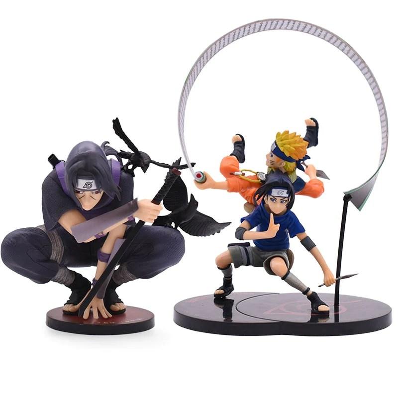 2 Styles Naruto Action Figures Uchiha Itachi Uchiha Sasuke Naruto Acti Funnyfairye