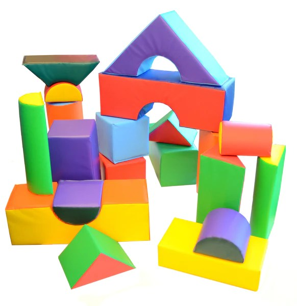 Soft Play 21Piece Block Set  AK Athletic Equipment