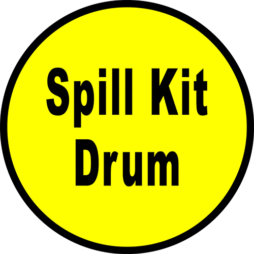 Spill Kit Drum Floor Sign  Industrial Floor Tape