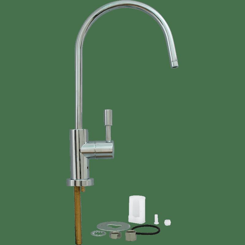 modern faucet chrome air gap