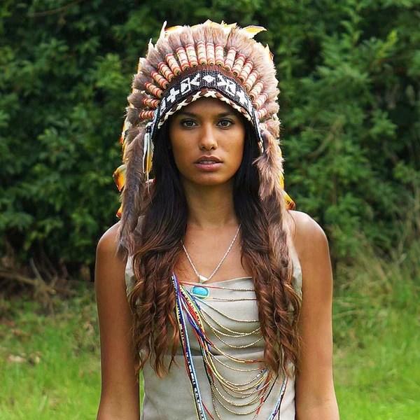 Beautiful Girl Wearing Hat Wallpaper Rasta Style Indian Headdress 90cm Indian Headdress