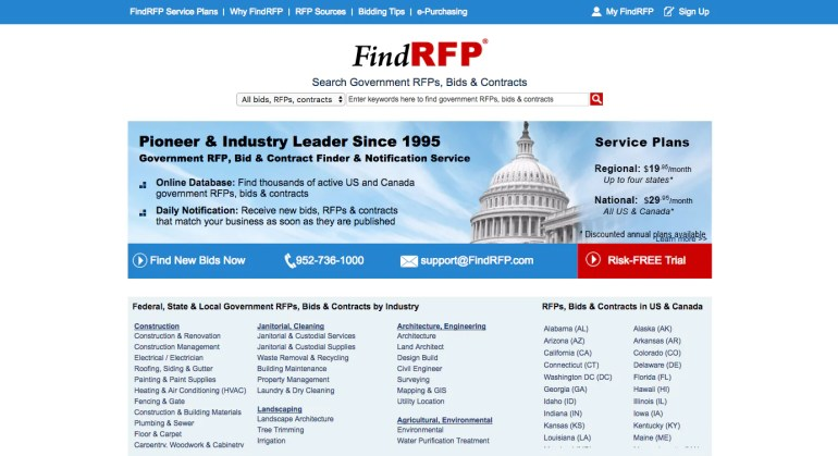 Finding web design clients: Find RFP