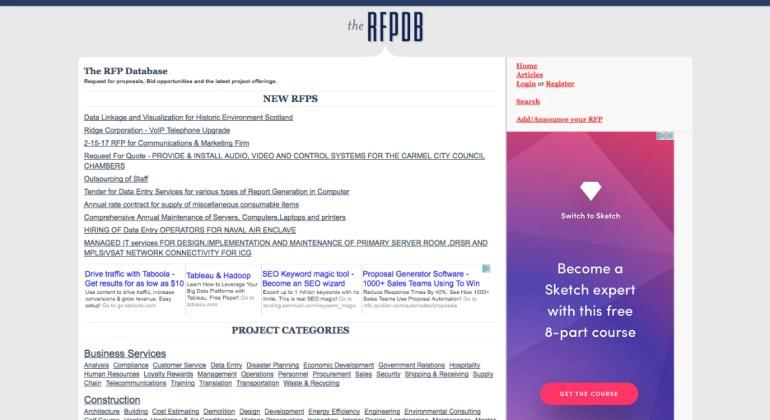 Finding web design clients: Rfpbd