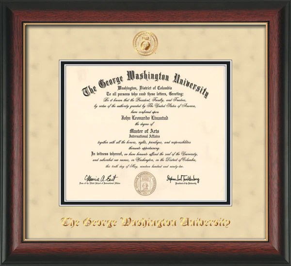 Law School Diploma Frame