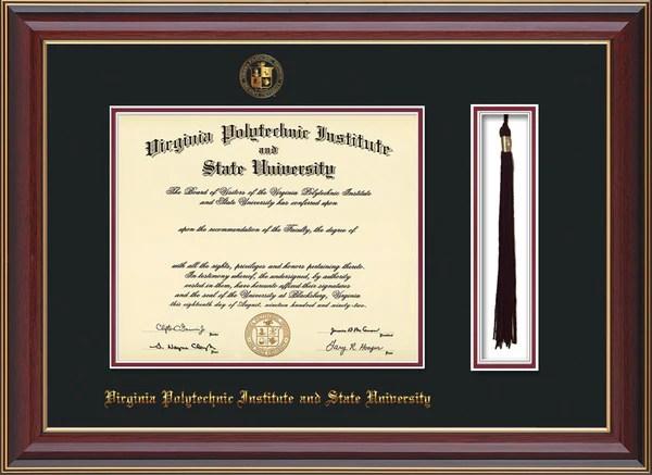 Virginia Tech Diploma Frames College Diploma Frames Official Diploma Frames