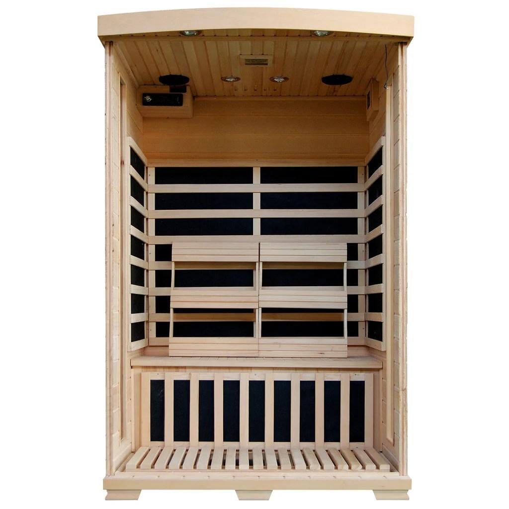 medium resolution of coronado 2 person hemlock deluxe infrared sauna with 6 carbon heaters