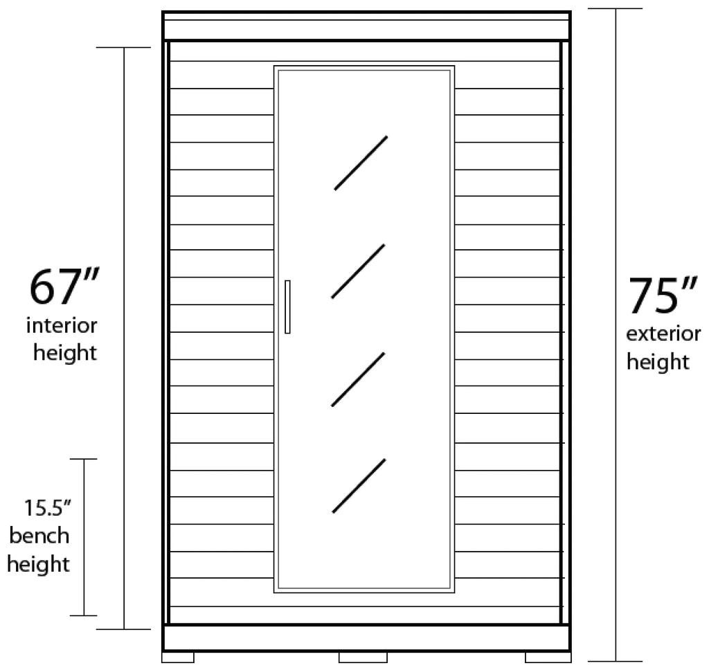 coronado 2 person hemlock deluxe infrared sauna with 6 carbon heaters [ 1024 x 968 Pixel ]