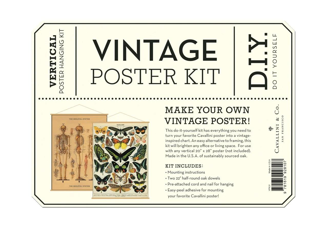 cavallini co vintage poster hanging kit vertical