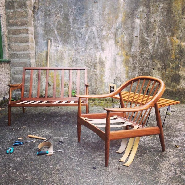 reupholstering midcentury furniture