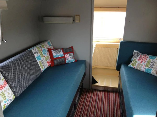 Interior design of airstream caravan