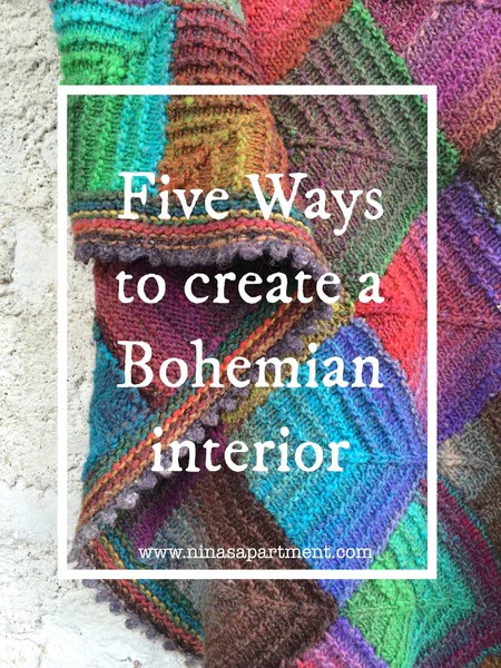 Five ways to create a bohemian interior