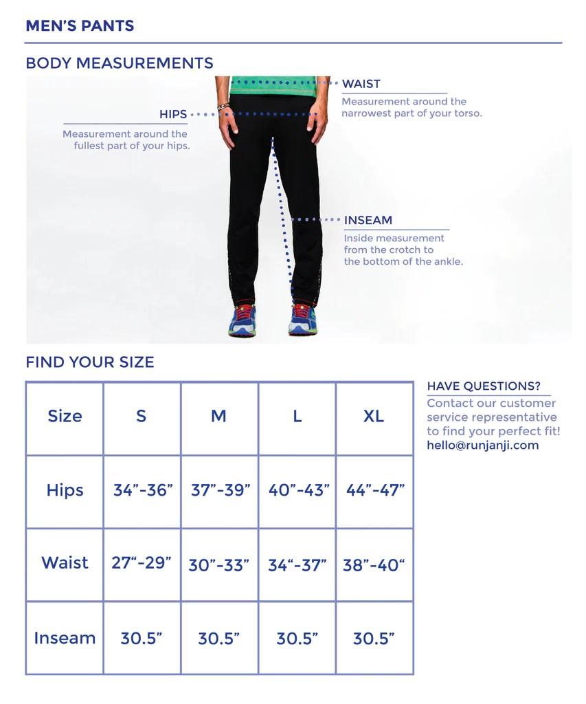 also men   pants size chart janji rh runjanji
