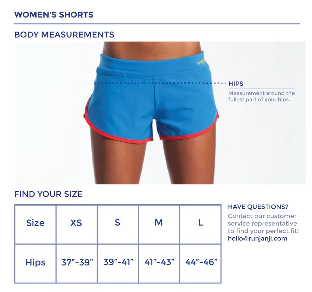 also women   shorts size chart janji rh runjanji