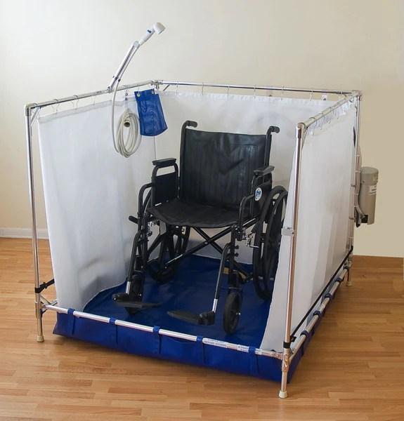 Fold Away Wheelchair Shower  Bariatric  Essential