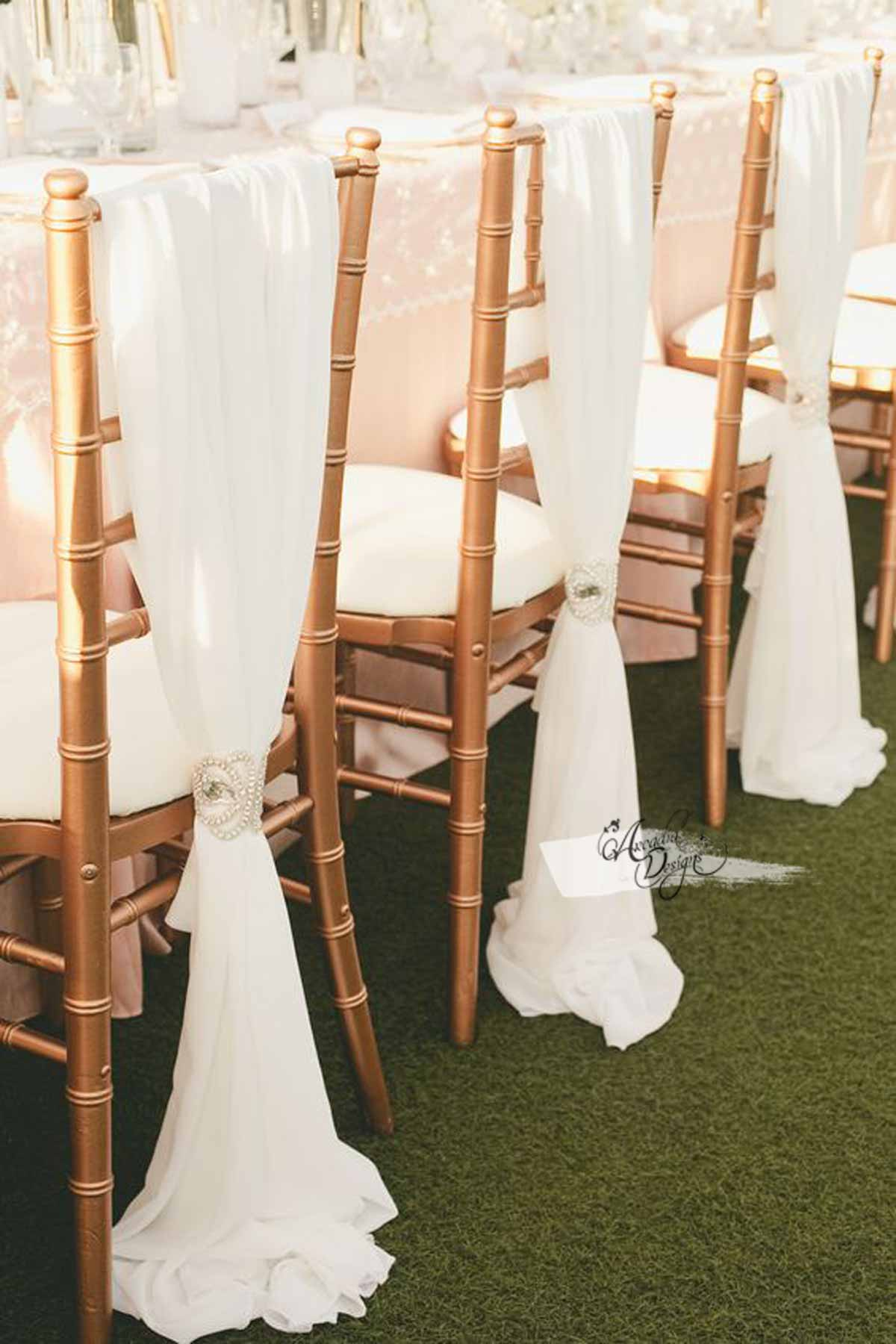 where to buy chair sashes liberator sex sheer white chiffon sash arcadia designs ivory