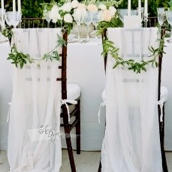 White Chair Sashes Metal Tube Sheer Chiffon Sash Arcadia Designs Natural