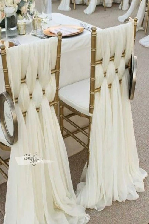 wedding chair sash mount keyboard tray shop sashes arcadia designs com braided ivory chiffon