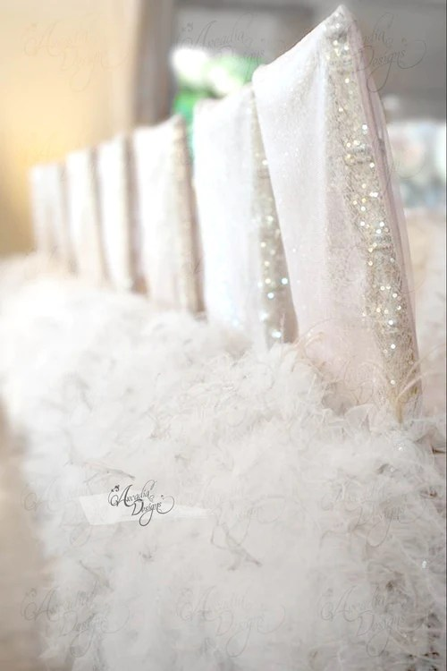 chair cover elegance pvc lounge chairs romantic arcadia designs com page 3 ostrich marilyn feather white sequin