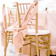 Rose Gold Satin Chair Sashes Eiffel Dining Think Sash Arcadia Designs