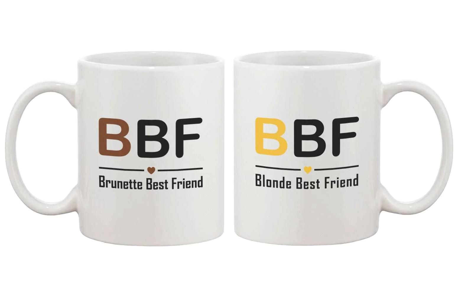 Bff Coffee Mugs Cute Friendship Matching Coffee Mugs