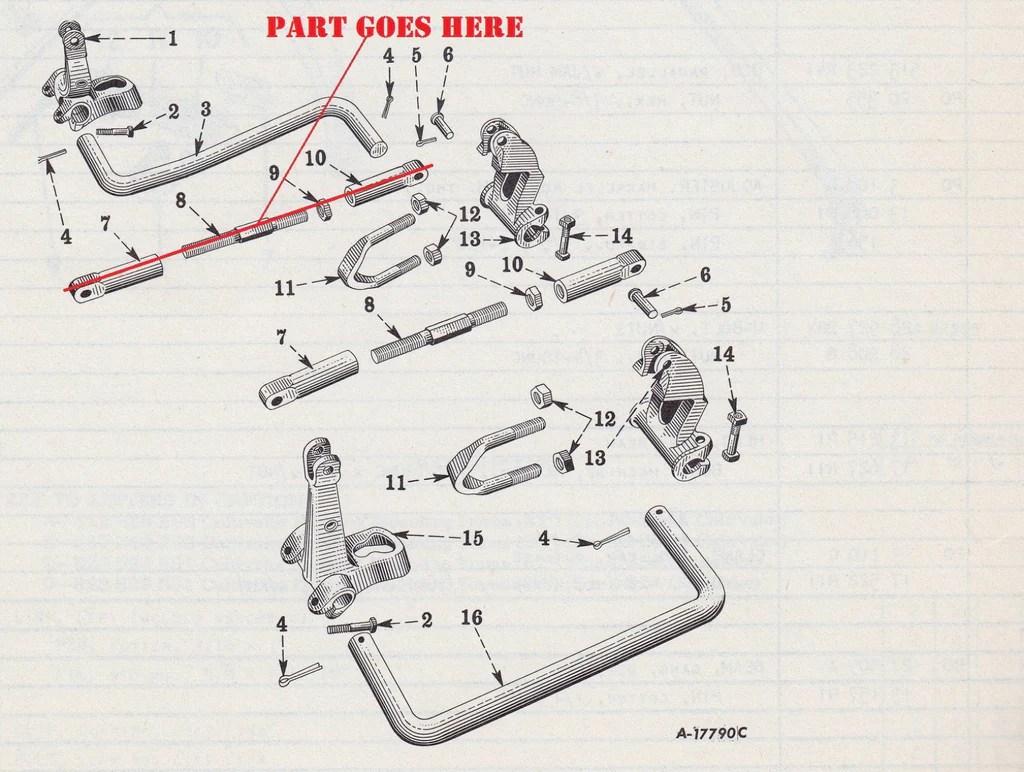 hight resolution of front cultivator rod with adjusters for farmall c and super c rh burchstoretractors com farmall 140 parts diagram 1942 farmall a electrical diagram