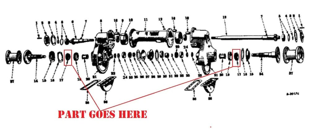 farmall cub final drive parts diagram