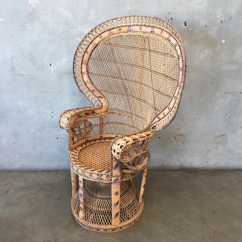 vintage peacock chair wooden high uk wicker