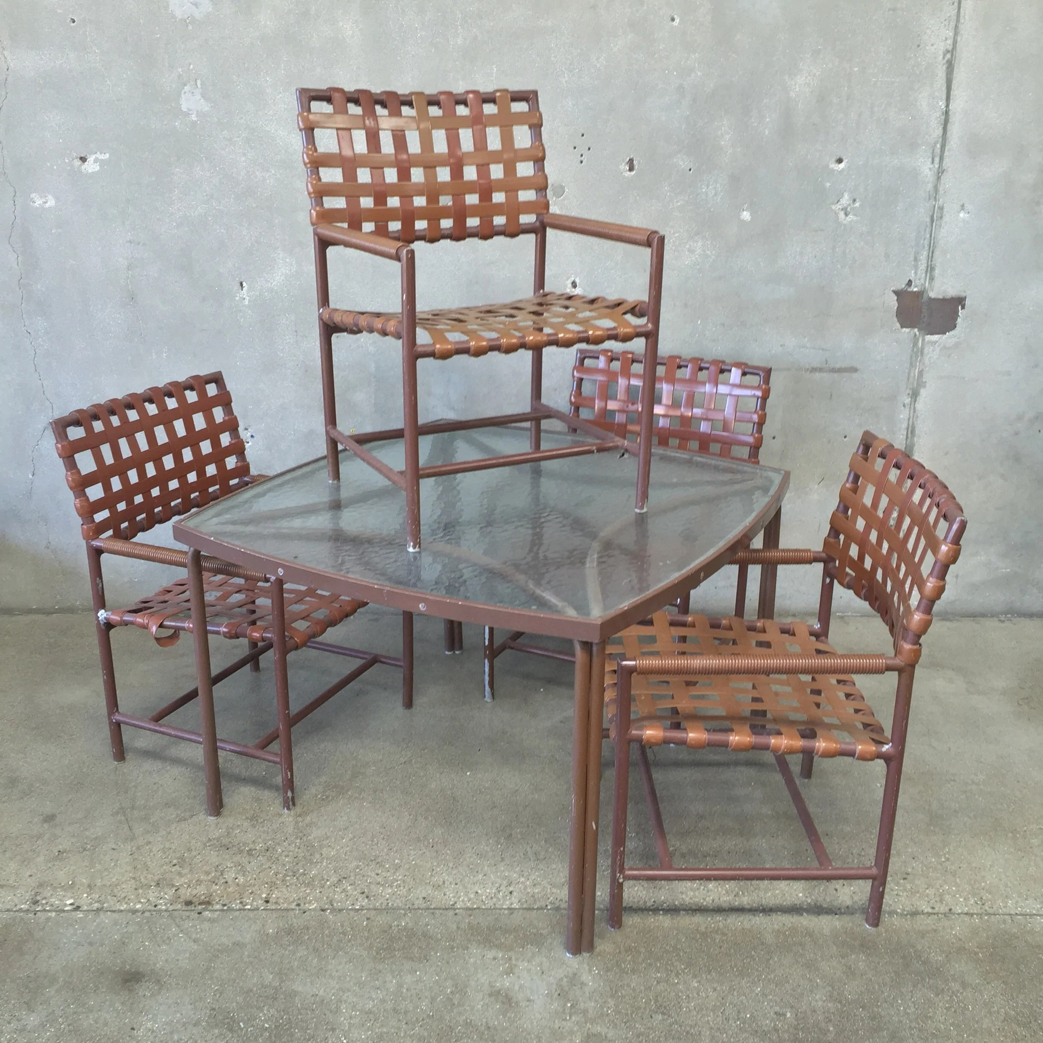 Vintage Brown Jordan Five Piece Patio Set Urbanamericana