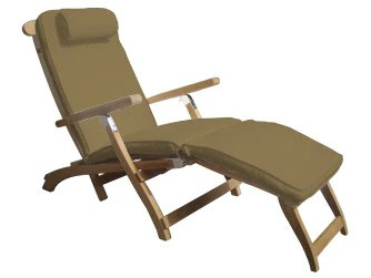 teak steamer chair bar stool kuala lumpur classic grade a totallyteak bronze cushion