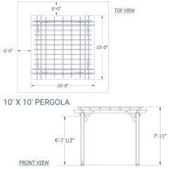 East Coast Swing Steps Diagram Square D Pressure Switch Wiring 10 39 X Wooden Pergola For Patios Backyard Discovery