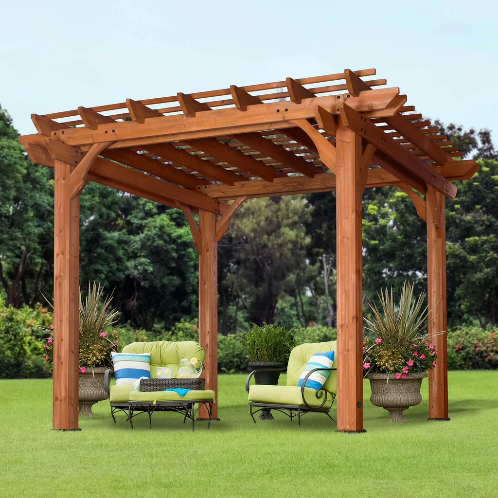 10' X Wooden Pergola Patios Backyard Discovery