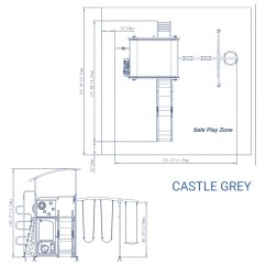 East Coast Swing Steps Diagram Yaskawa V1000 Wiring Castle Grey Metal Set Backyard Discovery