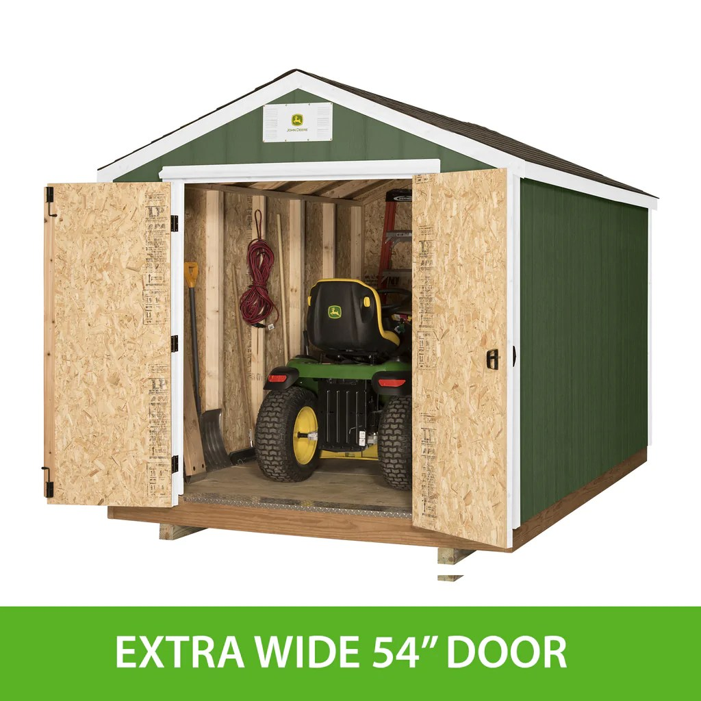small resolution of ready shed john deere 8 x 12 feet