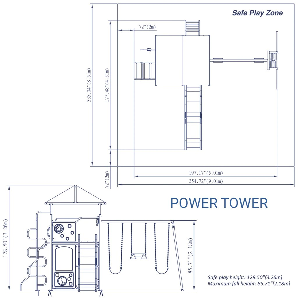 east coast swing steps diagram wiring for 7 pin plug power tower metal set backyard discovery
