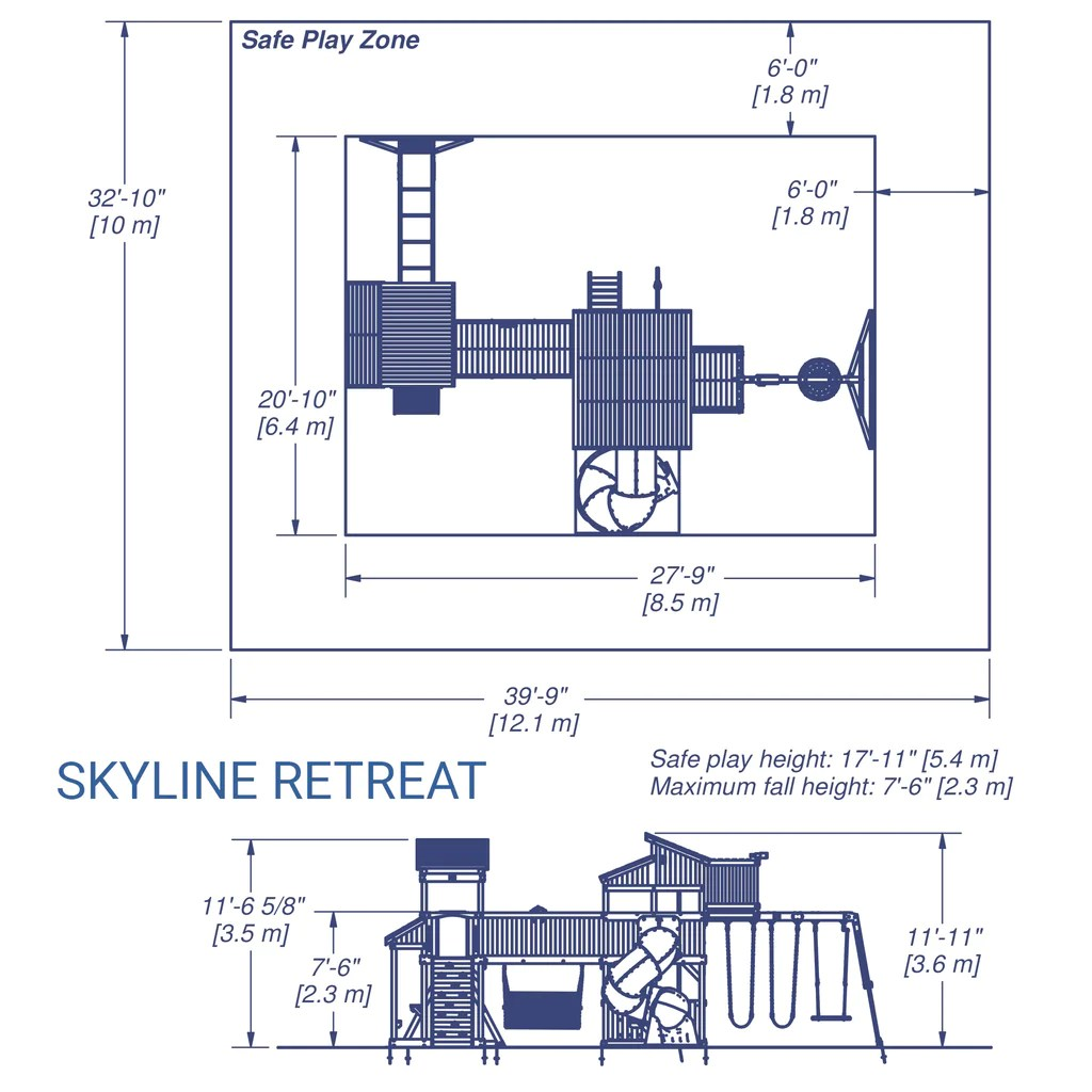 skyline retreat wooden swing set details [ 1024 x 1024 Pixel ]