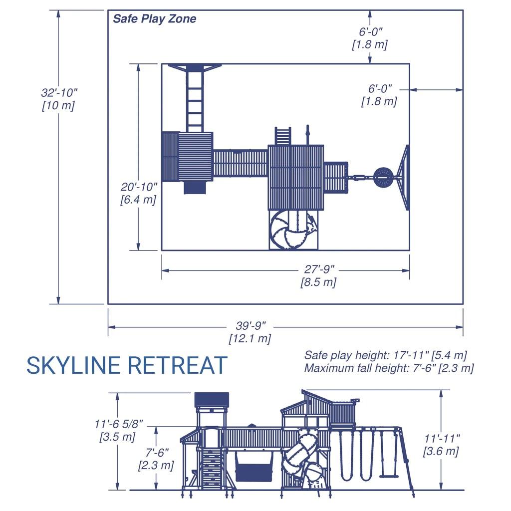 medium resolution of skyline retreat wooden swing set details