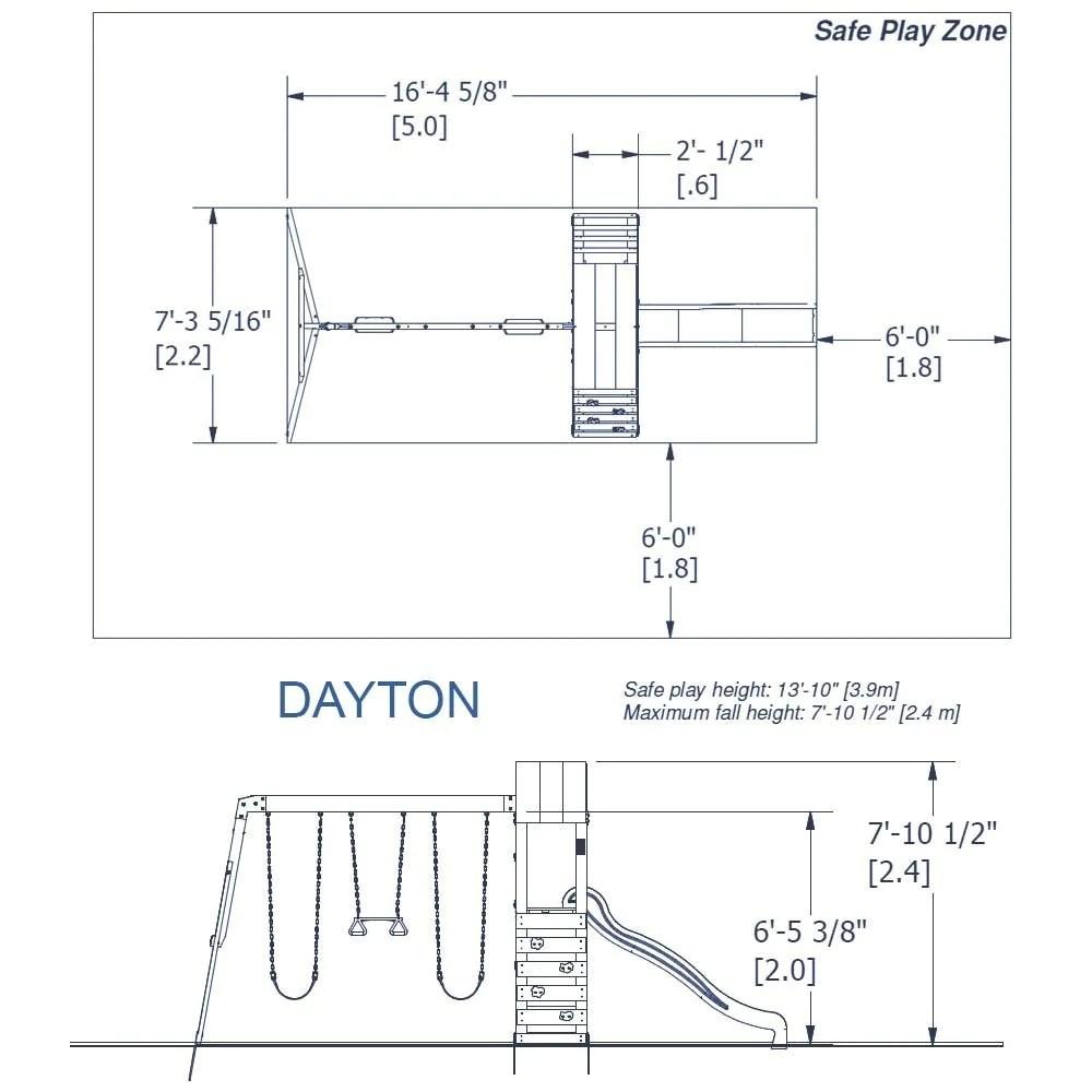medium resolution of backyard discovery playsets dayton wooden swing set details