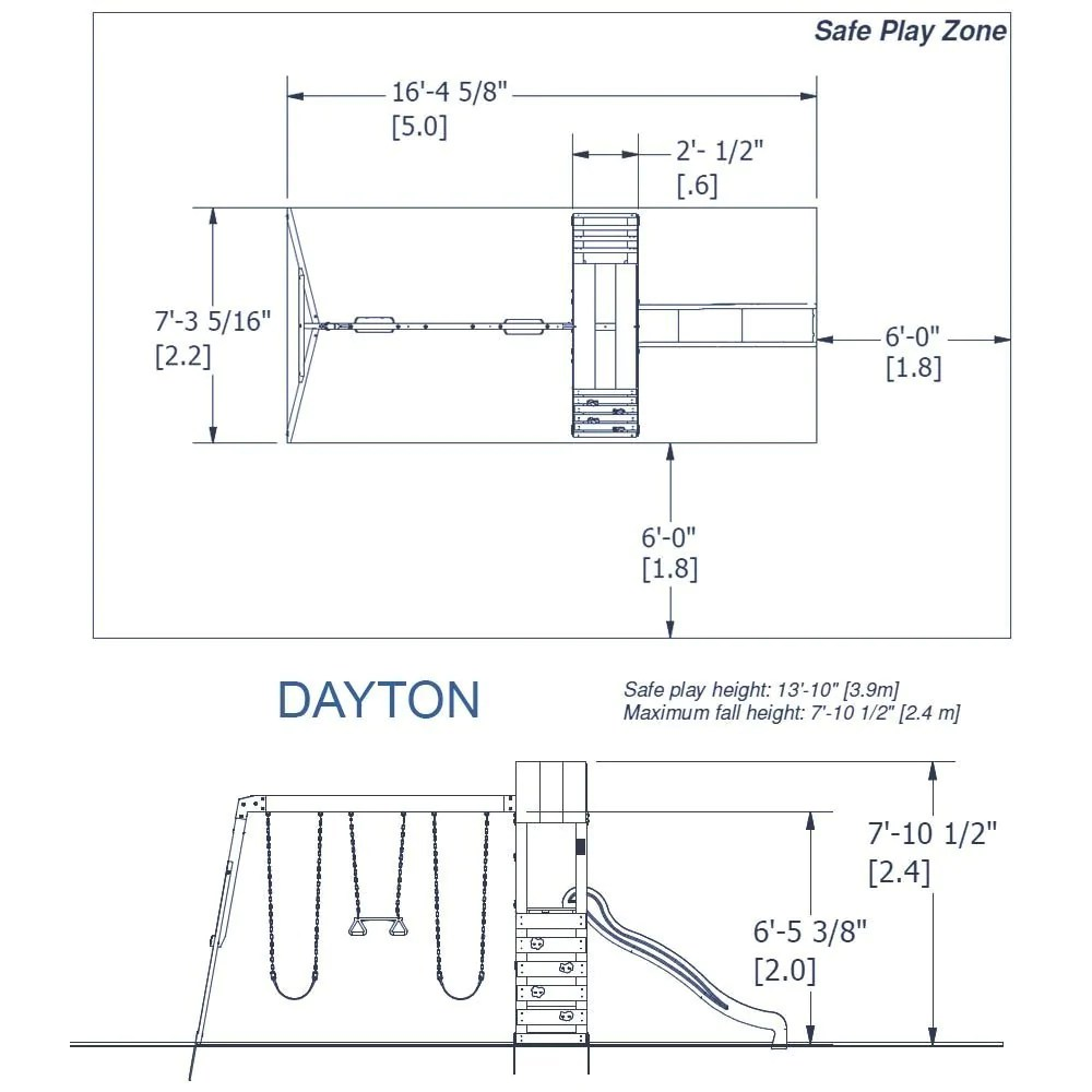 hight resolution of backyard discovery playsets dayton wooden swing set details