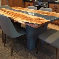 Concrete Kitchen Table Kohler Sink Accessories Ins And Outs Of Owning A Dining On This Example Just Goes To Show How Effective Complementary Contrasting Textures Look Together The Wood Was Made By Using