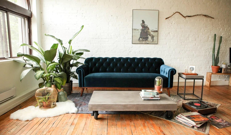 vega concrete coffee table on wheels