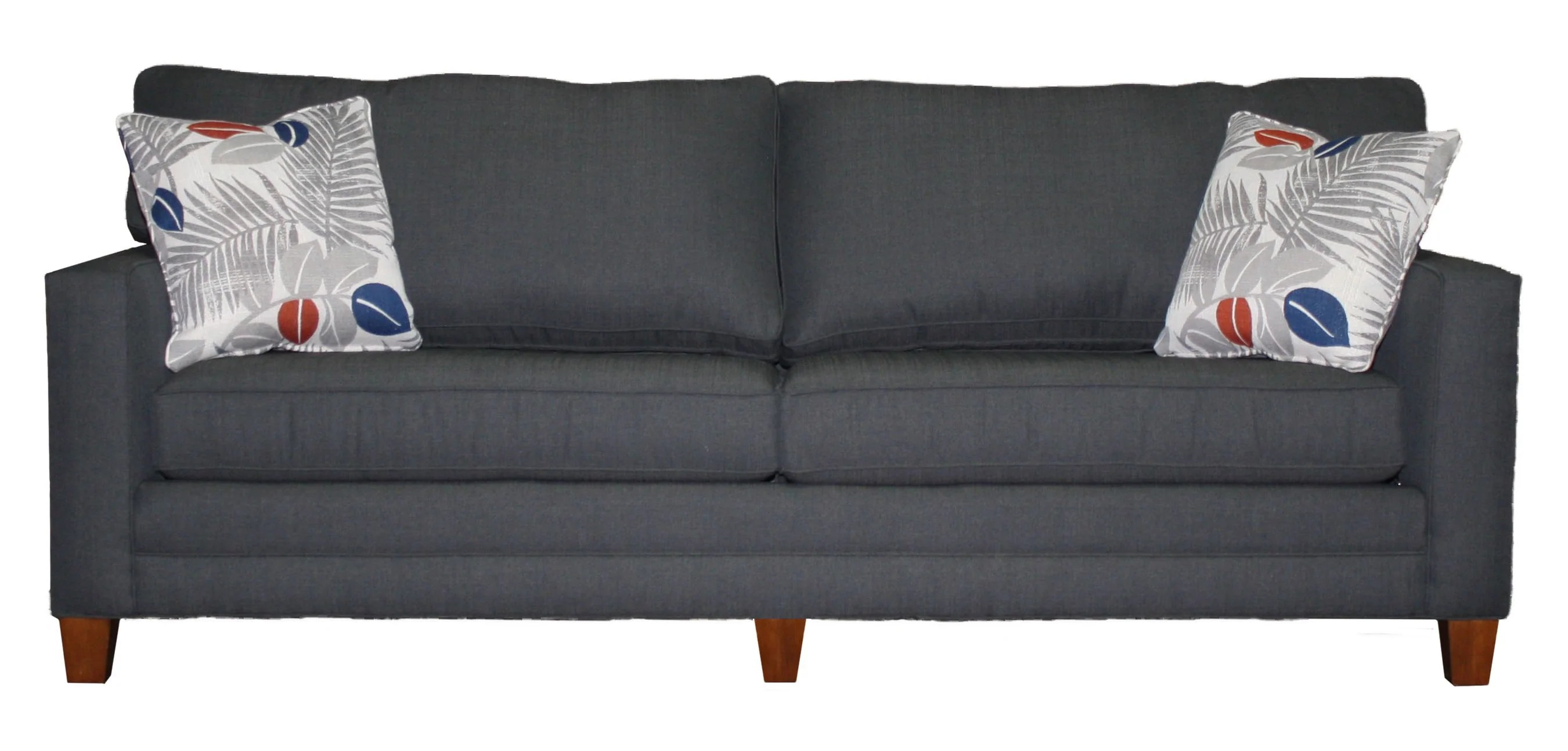 2 cushion sofa leather corner with drink holder tailor made wide track arm 91 from endicott home 3 81 furnishings in