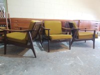 Japanese Mid Century lounge chairs by Maruni ...