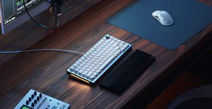 White Ice Keybaord on desk