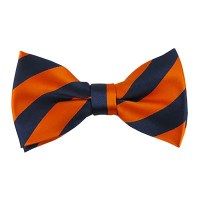 Striped Bow Tie - Navy Blue & Orange | High Tide Bow Ties