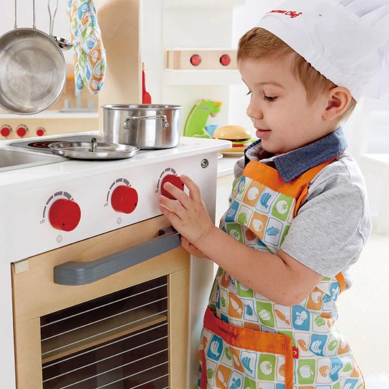 hape kitchen napkins cook n serve lusso kids inc