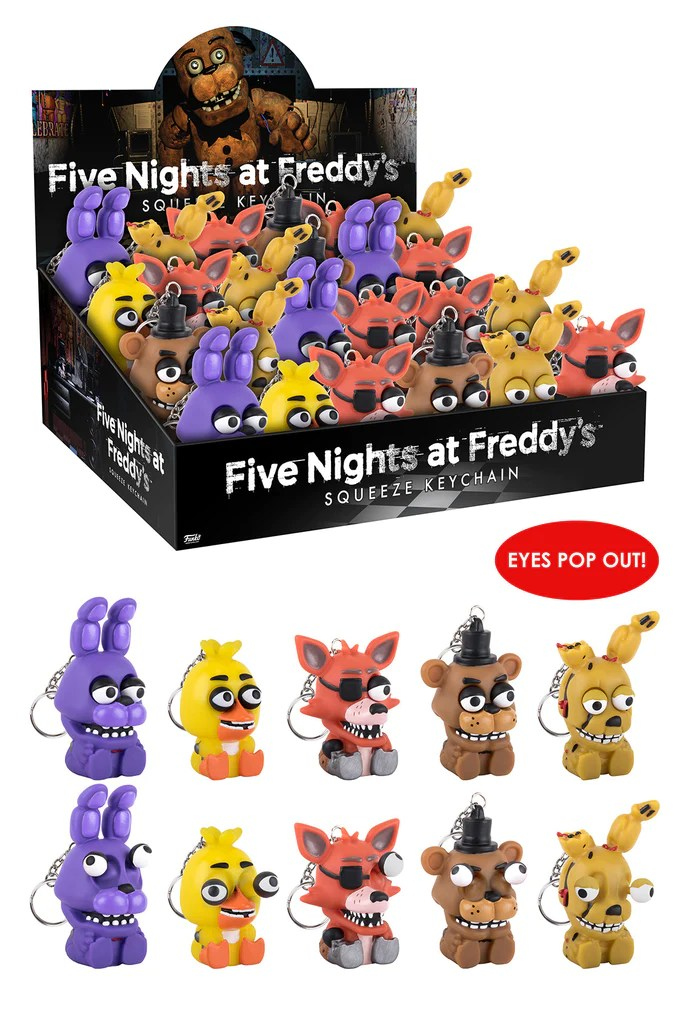 Squeeze Keychain Five Nights At Freddy's Funko