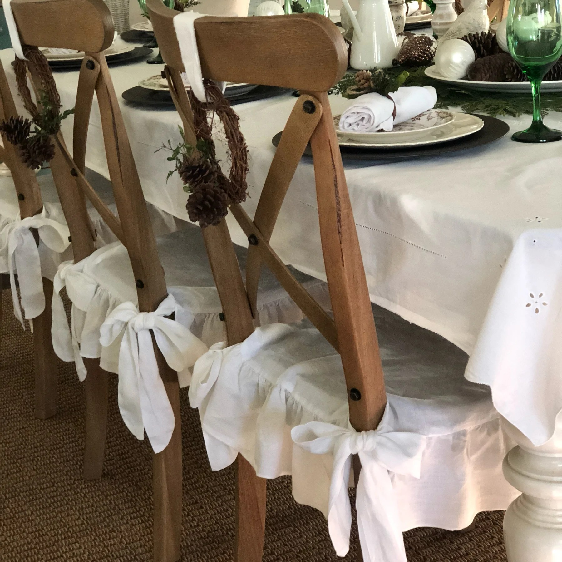 Linen Dining Chair Covers Linen Seat Chair Cover