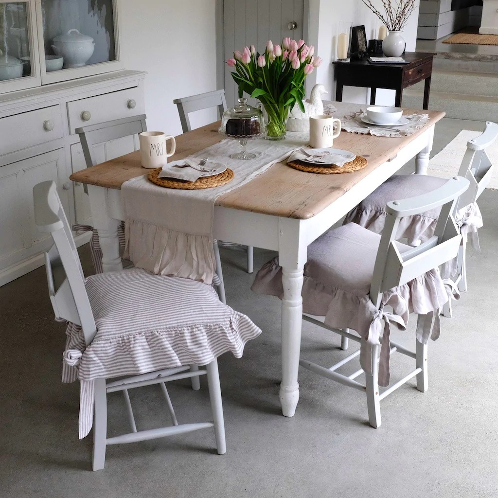 Linen Dining Chair Covers Linen Seat Chair Cover Oscar And French Ltd