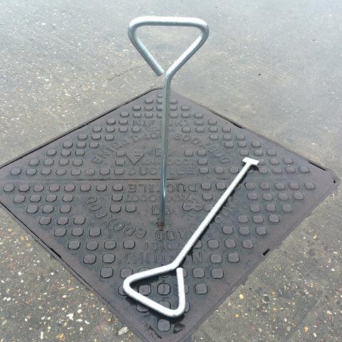 Manhole Cover Lifting Key Heavy Duty Steel Stop Cock