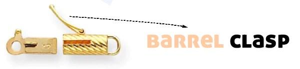 Barrel Clasps Jewelry
